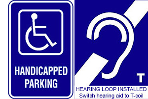 ADA Parking - Hearing Loop Installed